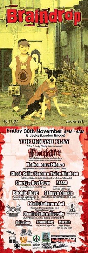 The McMASH CLAN - BRAINDROP 30th November 07'