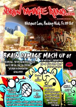 GHOST - SENOR SCRAM&TWICE NINETEEN - BRAIN DAMAGE MASH UP 5th October 07'