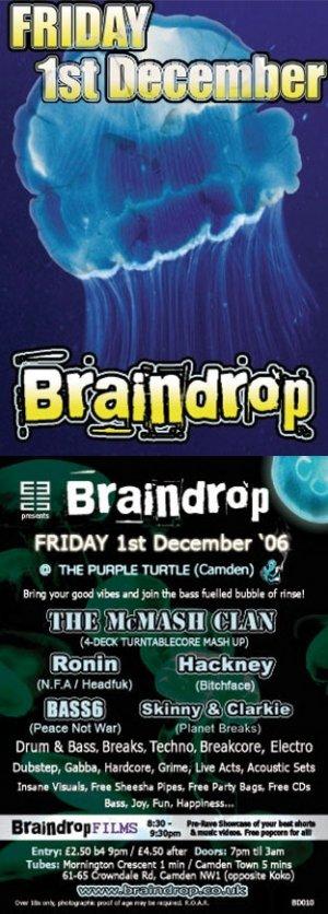 The McMASH CLAN - BRAINDROP 1st December 06' (BD10 studio mix)