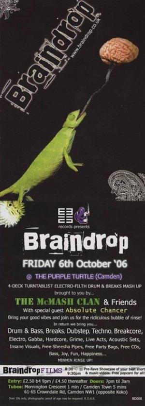 The McMASH CLAN - BRAINDROP 6th October 06' (BD08 studio mix)