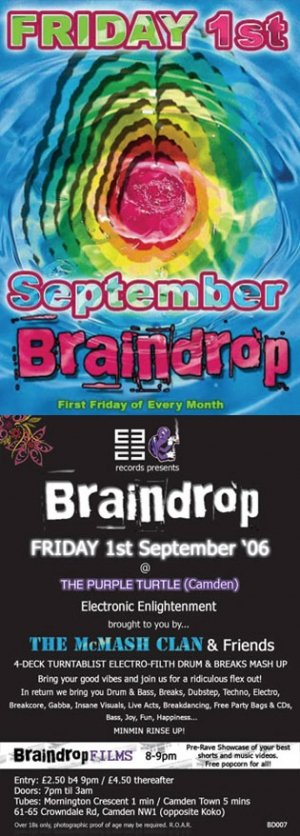 THE McMASH CLAN - BRAINDROP 1st September 06' (BD07 studio mix)