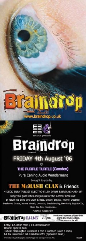 The McMASH CLAN - BRAINDROP 4th August 06' (BD06 studio mix)