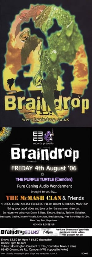 The McMASH CLAN - BRAINDROP 6th June 06' (BD04 studio mix)
