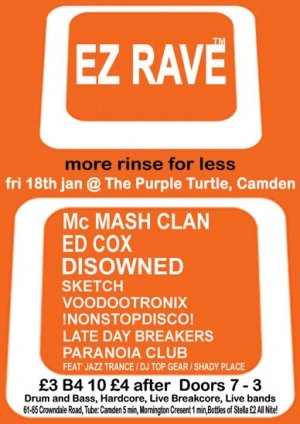 DISOWNED - EZ RAVE - 18th January 08'