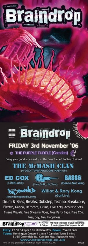 DISOWNED - BRAINDROP - 3rd November 06' (BD09 studio mini mix)
