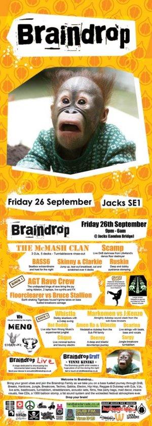 AGT RAVE CRU - BRAINDROP 26th September 08'