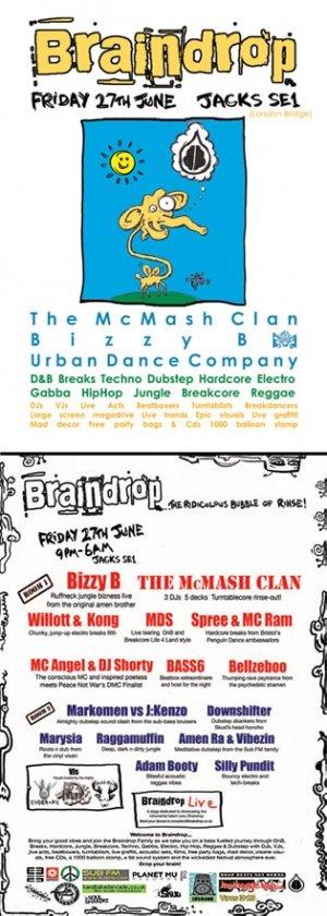 DJ SPREE & MC RAM - BRAINDROP 27th June 08'