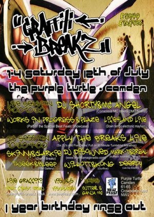 SKINNY & CLARKIE - GRAFFITI BREAKZ 12th July 08'
