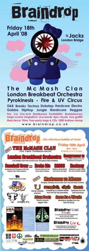 BROKE DJ'S - BRAINDROP 18th April 08'