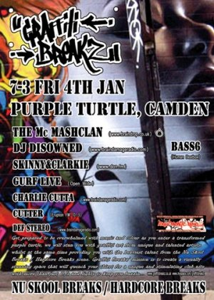 SKINNY & CLARKIE - GRAFFITI BREAKZ 4th January 08'