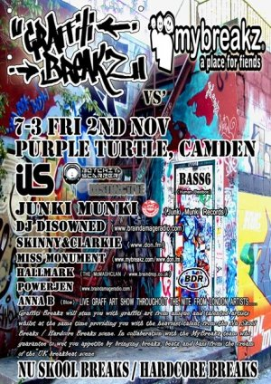 SKINNY & CLARKIE - GRAFFITI BREAKZ vs MY BREAKS 2nd November 07'