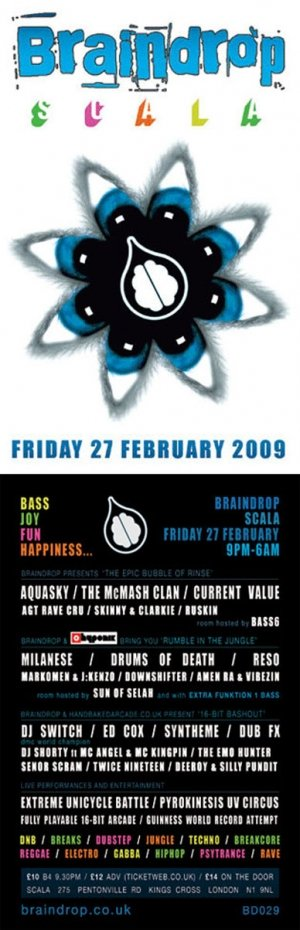 DUB FX - BRAINDROP 27th February 09'