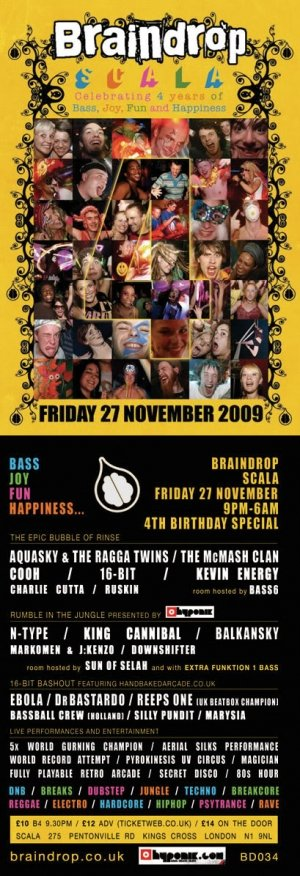 AQUASKY - BRAINDROP 4th BIRTHDAY 27th November 09'