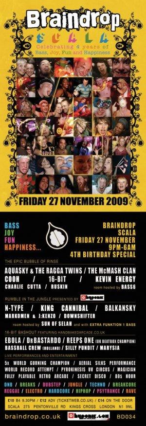 AQUASKY - BRAINDROP 4th BIRTHDAY 27th November 09'
