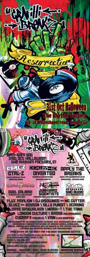 FLUX PAVILION - GRAFFITI BREAKZ (The Resurrection) 31st October 09'