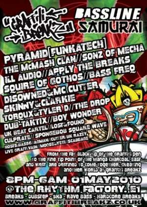 The McMASH CLAN - GRAFFITI BREAKZ (Bassline Samurai) 1st May 10'