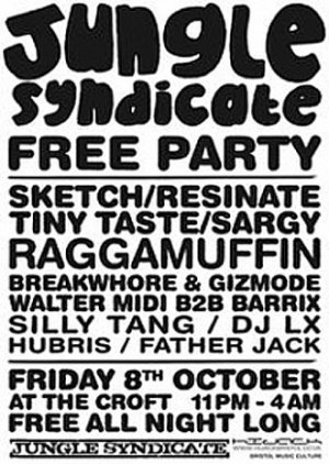 SKETCH - JUNGLE SYNDICATE SECOND BIRTHDAY MIX (Bristol) 8th Oct 2010