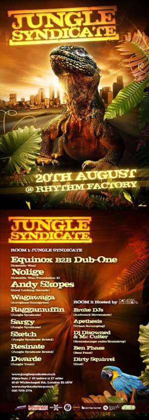 RAGGAMUFFIN - JUNGLE SYNDICATE (London) 20th Aug 2010