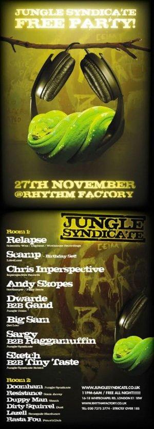 SCAMP - JUNGLE SYNDICATE (London) 27th Nov 2010