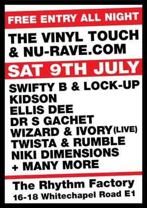DAZZ-F vs GAFFER - VINYL TOUCH / NU RAVE / GRAFFITI BREAKZ - 9th July 2011