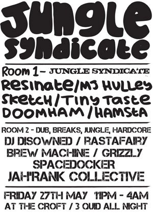 DISOWNED - JUNGLE SYNDICATE (The Croft - Bristol) 27th May 2011