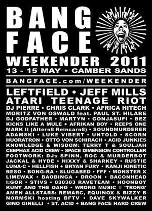 BASS BIN TERRORIZER vs DAVE SKYWALKER - BANG FACE WEEKENDER 14th May 2011 2011 (The Amen)