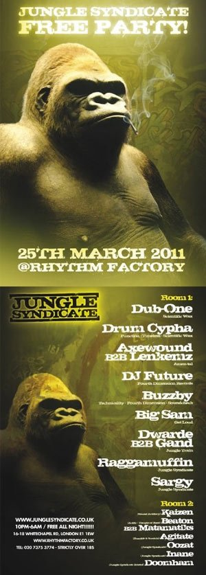 RESISTANCE & XMPT - JUNGLE SYNDICATE 25th March 2011