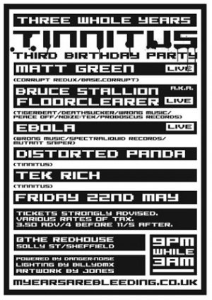 BRUCE STALLION - TINNITUS (3rd Birthday) 23rd May 09'