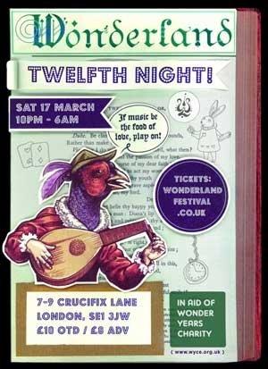 SAA-T - WONDERLAND (12th Night) - 17th March 2012