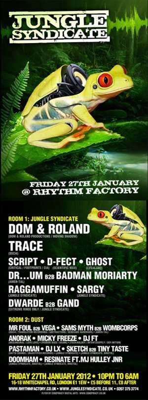 ANORAK - JUNGLE SYNDICATE - (LONDON) 27th January 2012