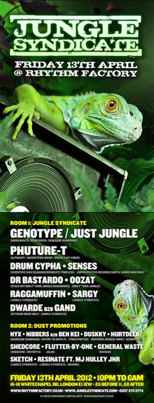DUSKKY - JUNGLE SYNDICATE - LONDON - 13th April 2012