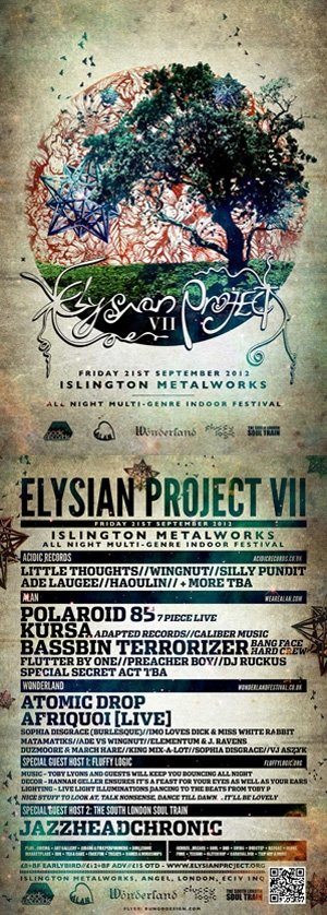 ADE LAUGEE vs WINGNUT - ELYSIAN PROJECT 7 (Wonderland Room) 21st September 2012