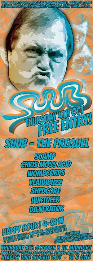 CHRIS MOSS ACID - SUUB (The Prequel) 4th October 2012