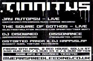Disowned - Tinnitus - 10th April 09'