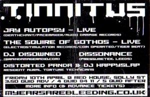 Disowned - Tinnitus - 10th April 09'
