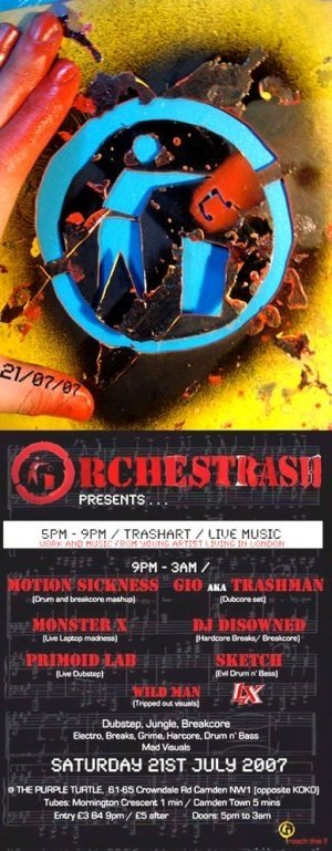 DISOWNED - ORCHESTRASH - 21st July 07' (ORCH01 studio mix)