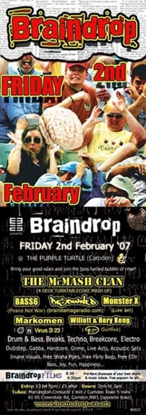 DISOWNED - BRAINDROP 2nd February 07' - (BD12 studio mix - Disowned Birthday set)
