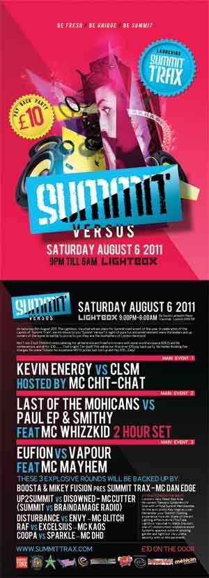 SUMMIT - 6th August 2011 - (Studio mix)