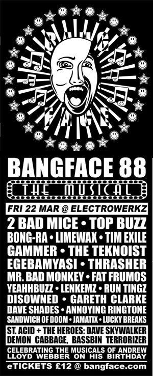 / DAVE SKYWALKER vs DISOWNED - BANGFACE 88 - 22nd March 2013
