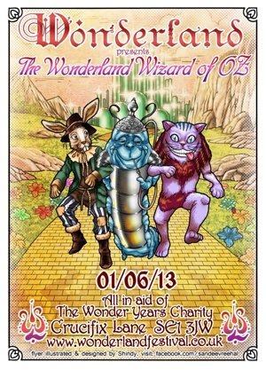 / DISOWNED AND MC CUTTER - WONDERLAND - (Wonderland's Wizard of OZ) - 1st June 2013
